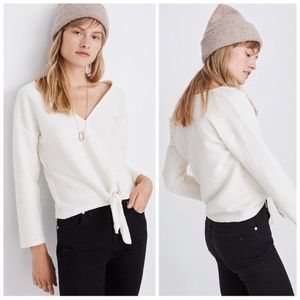 Madewell | Texture and Thread Tie Front Top